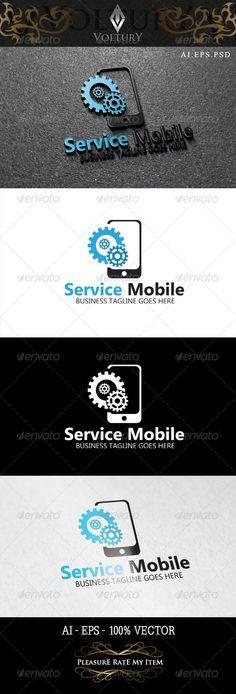 Service Mobile Logo: Symbol Logo Design Template created by Voltury. Mobile Phone Logo, Mobile Phone Repair, Iphone Repair, Mobile Phones, Logo Marketing, Mobile Marketing, Newest Cell Phones, New Phones, Shop Logo