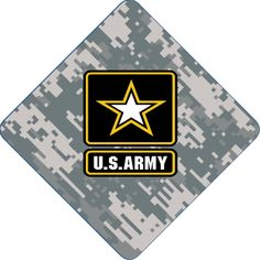 Professionally printed graduation caps. Show your support to our troops. #army #graduation