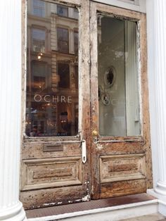 The doors of Ochre in Soho are to die for! I just love them.