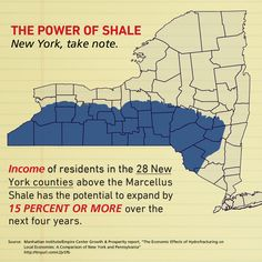 Take note New York: Income of residents in the 28 New York counties above the Marcellus Shale has the potential to expand by 15% or more over the next four years: http://www.manhattan-institute.org/html/gpr_01.htm#.UgAF64M3tS3