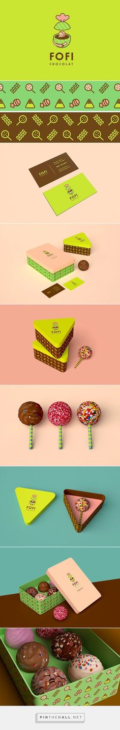 Fofi chocolat packaging on Behance via lo Anto curated by Packaging Diva PD. Branding for a chocolate store, yummy.