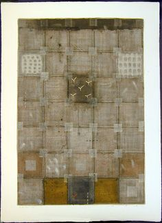 June 2002 and paint, paper-mounted Japanese Quilts, Japanese Art, Mixed Media Painting, Oil Painting Abstract, Tea Bag Art, Sustainable Textiles, Textile Fiber Art, Art Base, Artist Names