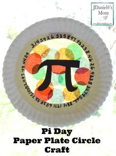 Pi Day Paper Plate Craft - This craft features some of the numbers in Pi, the Pi sign and loads of circles. Math Activities For Kids, Spring Activities, Math For Kids, Fun Math, Number Activities, Toddler Crafts, Preschool Crafts, Fun Crafts, Paper Crafts