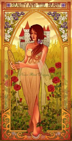 Disney Princesses Art Nouveau