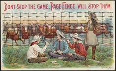 """""There is no danger. This is Page fence."""" (front) 