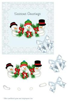 Snowmen In Lace frame on Craftsuprint - Add To Basket!