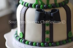 Bow Tie and Suspenders.  Can you say Southern Charm?! www.facebook.com/southernsweetsbymegan