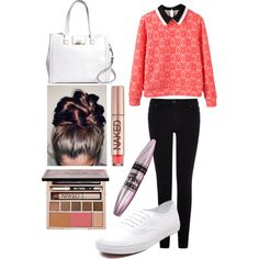 -op[l'l;; by kayskaylee on Polyvore featuring Warehouse, Vans, Brooks Brothers, Maybelline and Urban Decay