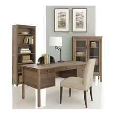 Desk With File Drawers