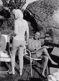 Marilyn with Frank Sinatra at Cal Neva Lodge in Lake Tahoe, July 1962.