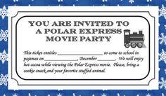 Polar Express movie party