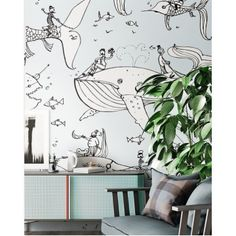 Дизайнерские обои Whales Touche Collection wallpaper TheO 2016 #wallpaper #Wall decoration #TheO