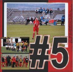 soccer scrapbooking | soccer scrapbook page numbers