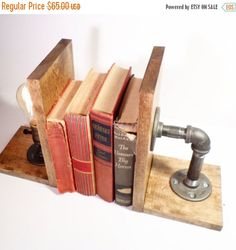 FALL SALE 25% OFF Unique Bookend by UrbanIndustrialCraft on Etsy
