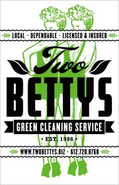 Two Bettys Green Cleaning Service Logo