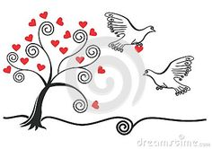 Abstract Tree With,pigeon,heart - Download From Over 49 Million High Quality Stock Photos, Images, Vectors. Sign up for FREE today. Image: 79824187