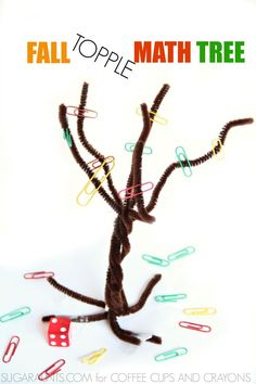 Practice counting and adding with this Fall Topple Game using a pipe cleaner…