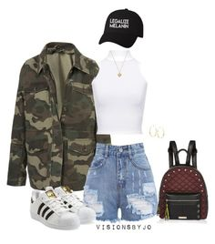 """Untitled #1640"" by visionsbyjo ❤ liked on Polyvore featuring Topshop, Retrò, adidas Originals, WearAll, River Island, Lana and Michael Kors"