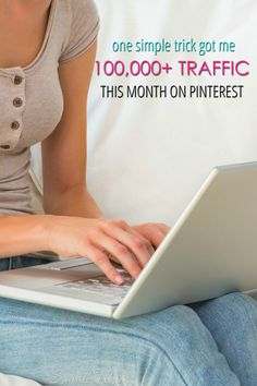 The proof is in the pudding, right?! So, here's my screenshots as I share with you how this one simple trick got me 100,000+ traffic this month on Pinterest
