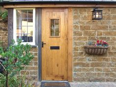 traditional hardwood external door - Google Search