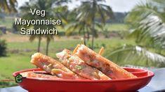 Veg Mayonnaise Sandwich on Tawa Recipe   Veg Mayonnaise Sandwich   veget...