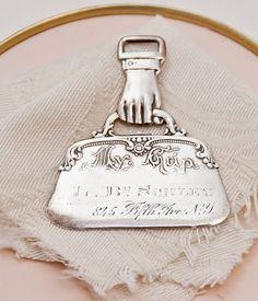 Victorian Silver Luggage Tag