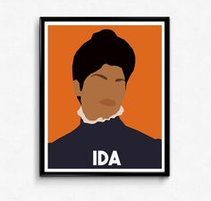 Ida B Wells Portrait- Feminist Icon, Minimalist Portrait, Wall Art Feminist Icons, Feminist Art, Ida B Wells, School Murals, Visual And Performing Arts, Portrait Wall, Sewing Art, All Poster, Movie Posters