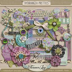 Unbelievably Gorgeous Kit!    Hydrangea Pretties by ForeverJoy Designs