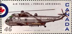 Canadian postage stamp celebrating the 75th Anniversary of the RCAF (Royal Canadian Air Force)