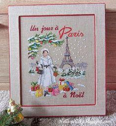 In whatever language it is a Joyous Christmas in Paris! - Nelli: Коробка для новогодних игрушек и Les Brodeuses Parisiennes