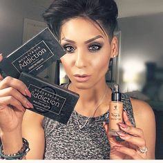 Love this look !! She looks flawless using our liquid foundation and moonstruck eye shadow pallets! Create your own look today online ❤️  makeupaddictstash.com  #mascara #makeup on #fleek #try #love #younique #beauty #lashes #falsies #mommy #mua #ladies #blogger #youniqueproducts #lashcrack #makeupaddict #stash #liquid #foundation #eyeshadow #pallete #wow #love #thislook