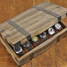 Relic Series Domicile 12-pc Watch Box - Reclaimed Wood Watch Storage, Diy Storage, Watch Organizer, Storage Baskets, Cool Watches, Watches For Men, Casual Watches, Underwear Storage, Wooden Watch Box