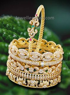 Diamond bangles from kirtilal - Latest Jewellery Designs