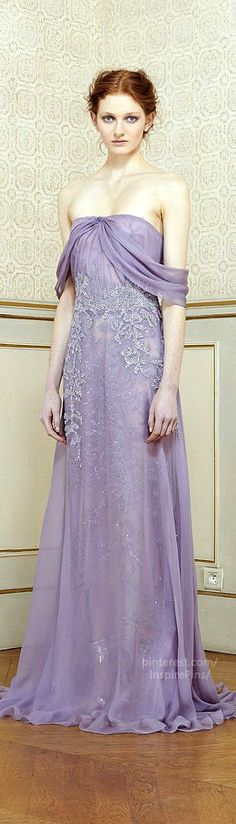 Rami Al Ali Haute Couture Spring 2014 [The color, especially, is gorgeous. For some reason I always forget lilac is an option.]