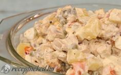 Orosz hússaláta recept fotóval Kefir, Pasta Salad, Potato Salad, Potatoes, Meat, Cooking, Ethnic Recipes, Food, Crab Pasta Salad