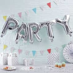 Silver Party Balloon Bunting from Party Delights.co.uk