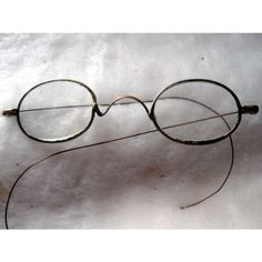 fe7cff8e7836 Antique Metal Prescription Eyeglasses with Delicate Wire Ear Pieces Listing  in the Other