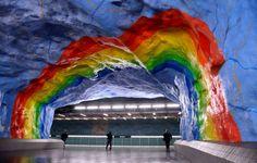 Stadion metro station (Stockholm, Sweden) - JONATHAN NACKSTRAND/AFP/Getty Images