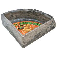 Zoo Med Reptile Rock Corner Water Dish - Compare and Shop The Best Stuff Reptiles, Terrarium Bowls, Reptile Habitat, Reptile Pets, Faux Rock, Like A Rock, Walnut Shell, Bowl Designs, Pet Rocks