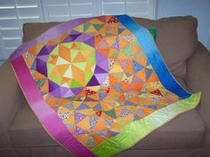 """QM Scrap Squad: Pam Snow's """"Moon Flower"""" version of the Old World Christmas quilt pattern from Quiltmaker's Nov/Dec '15 issue."""