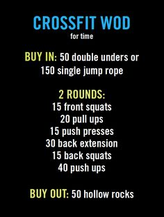 Crossfit workout of the day (WOD).   My time: 18:30