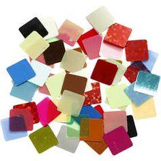 Folie #mozaiek, afm 10x10 mm, 250 gr, kleuren assorti