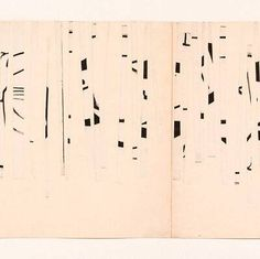 "Ellsworth Kelly, ""Drawing Cut into Strips and Rearranged by Chance"" (detail), 1950     Ed's note: Looks like birch trees, does it not?"