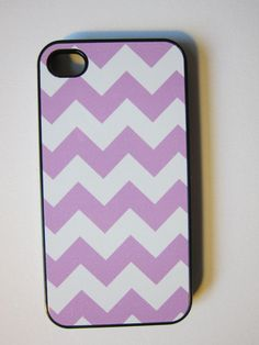 Lavender Chevron iPhone Case by whiskeykittens on Etsy, $20.00