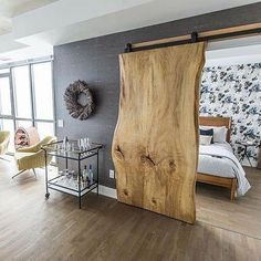Barn door – wood slab… in the words of last pinner. I just want to say that th… Barn door – wood slab… in the words of last pinner. I just want to say that this is one beautiful wood slab 😉 I'll take it! Sweet Home, Diy Casa, Wood Slab, 1x4 Wood, Stain Wood, Tile Wood, Wood Art, Wood Doors, Barn Doors