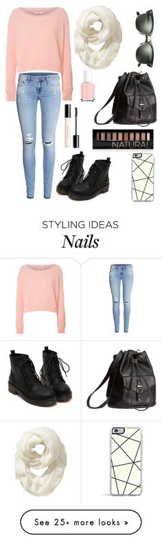 """""""Winter Shopping!"""" by bellaboo432 on Polyvore featuring H&M, Glamorous, Ray-Ban, Forever 21, Essie and Old Navy"""