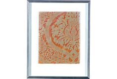 Framed Orange Fortuny Textile  Carnaby Home