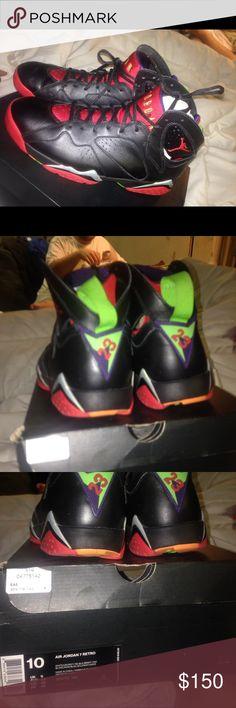 JORDAN RETRO 7 men's JORDANS RETRO 7 MINOR SCUFF MARK ON FRONT EASILY REMOVED Jordan Shoes Sneakers