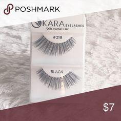 KARA Eyelashes #218 % Human Hair • Black • #218 • Brand New • Long Lasting KARA Makeup False Eyelashes