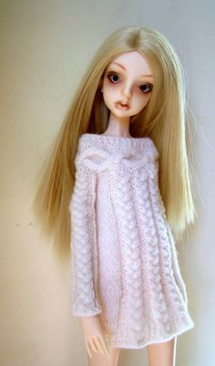 Knitted Ddress for Doll Chateau doll by DancingAngelDolls on Etsy